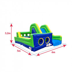 Achat Parcours Gonflables Obstacles 6m : dimensions